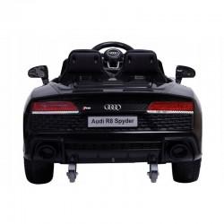 ProCart® Elektromos autó gyerekeknek, Audi R8, távirányító, ökológiai bőr ülések, fekete