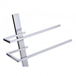 ProCart® Fürdőszoba törölközőtartó, 2 karos, krómozott acél, 90 x 41 x 28 cm