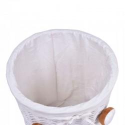ProCart® Mackó Tároló kosár, fonott, kapacitás 40 liter, bélés, fedél