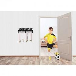 ProCart® Never give up Éremtartó, falra szerelhető, 12 horog, fekete