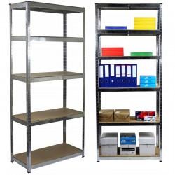 ProCart® Fém polc, 2 db-os készlet 180x90x30 cm, maximális terhelés 875 kg, 5 szint