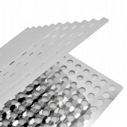 BBQ Grill lap, rozsdamentes acél, 2 rész, összecsukható, 46x30cm, ezüst