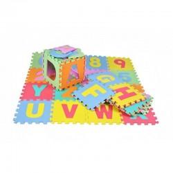 ProCart® Puzzle szőnyeg, 36 darab puha hab, betűk és számok, többszínű