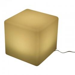 Kocka típusú szék, LED-ekkel, 40x40x40 cm, 16 különböző színű, 4 mód, távirányító