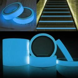 ProCart® Öntapadó foszforeszkáló szalag, világoskék, tekercshossz 25m