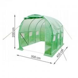 MT Malatec Melegház fólia, 4,5x3x2m, UV szűrő, 6 szúnyogháló ablak, 2 bejárat