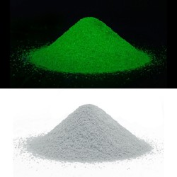 Nisip decorativ fosforescent verde