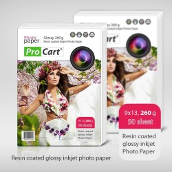 Hartie FOTO glossy resin coated 260gr 9x13 top 50 coli