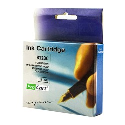 Cartus compatibil LC123C Cyan pentru imprimante Brother