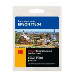 Cartus inkjet original Kodak, compatibil cu Epson T1804, Yellow, 12 ml, Premium Kodak
