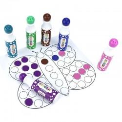 Carioci lavabile colorate, set 6 bucati, 45ml, pentru buline
