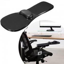 Suport ergonomic pentru mana si mouse, accesorii montare, fixare scaun sau birou, negru